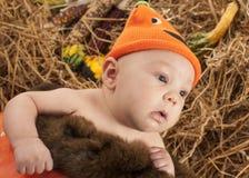 Dziecko halooween photoshoot Obrazy Stock