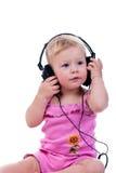 dziecko hełmofony Zdjęcia Stock