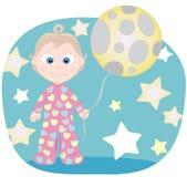 Dziecko i księżyc Zdjęcia Royalty Free