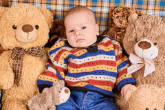 Dziecko i misie Obrazy Stock