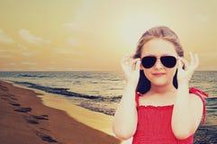 Dziecko i morze Zdjęcia Royalty Free