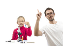 Dziecko i nauczyciel zdjęcia stock