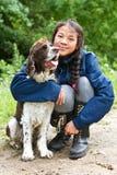 Dziecko i pies fotografia royalty free