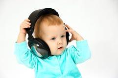 Dziecko i telefony obraz royalty free