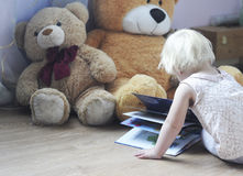 Dziecko i zabawki Obraz Stock