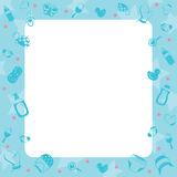 Dziecko ikon przedmiotów granica Zdjęcia Stock