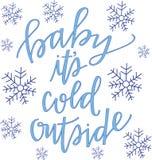 Dziecko ja jest zimnym outside Obrazy Royalty Free