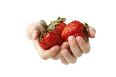 dziecko jagodowe ręki Zdjęcia Royalty Free