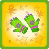 Dziecko jaskrawe rękawiczki Obraz Royalty Free