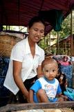 dziecko jej kobieta Zdjęcia Royalty Free