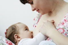 dziecko jej małej matki Zdjęcia Royalty Free