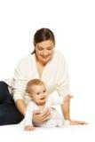 dziecko jej matka Zdjęcie Stock