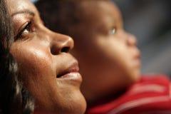 dziecko jej wzrok Zdjęcia Stock