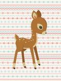 Dziecko jelenia deseniowa karta Fotografia Royalty Free
