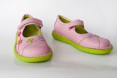 dziecko jest buty Fotografia Royalty Free