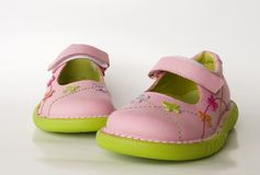 dziecko jest buty Zdjęcie Royalty Free