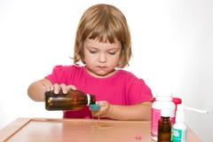 dziecko jest chore Fotografia Stock