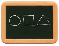 dziecko jest tablica mini kształty Obrazy Stock