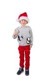 Dziecko jest ubranym Santa kapelusz Fotografia Royalty Free