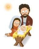 Dziecko Jezus, Mary i Joseph, ilustracja wektor