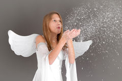 Dziecko Jezus przychodzi wkrótce - dziewczyny jak anioł Obrazy Royalty Free