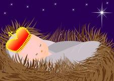 Dziecko Jezus w żłobie Zdjęcie Stock