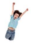 dziecko jumping Zdjęcia Royalty Free