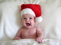 dziecko kapelusz Mikołaja Zdjęcie Royalty Free