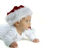 dziecko kapelusz Mikołaja Zdjęcia Royalty Free
