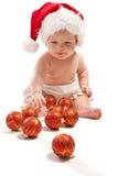 dziecko kapeluszowy bawić się Santa Zdjęcie Royalty Free