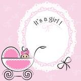 Dziecko karta - Swój dziewczyna temat Zdjęcia Royalty Free