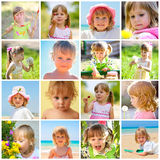 dziecko kolaż Zdjęcia Stock