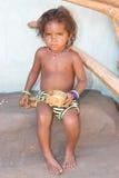 dziecko kolczyki ostrożnie wprowadzać orissan plemiennego Obrazy Stock