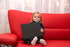 Dziecko komputer osobisty Fotografia Royalty Free