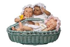 dziecko kosz trzy Fotografia Royalty Free