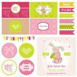 Dziecko królik na Końskim temacie dla Partyjnej i Urodzinowej dekoraci - Obrazy Royalty Free