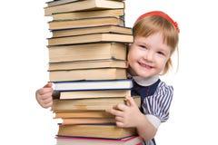 dziecko książki odizolowywali trochę Zdjęcie Royalty Free