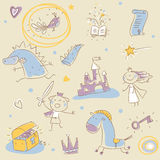 dziecko książkowa opowieść Zdjęcia Royalty Free