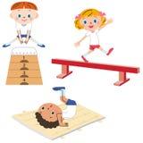Dziecko który ćwiczy ilustracji