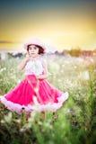 dziecko kwiat pola Zdjęcia Royalty Free