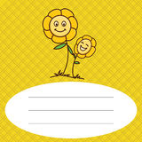 Dziecko kwiat z deseniowym tłem Obraz Stock