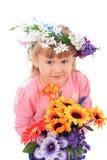 dziecko kwiaty Zdjęcia Royalty Free
