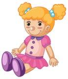Dziecko - lala z szczęśliwą twarzą royalty ilustracja