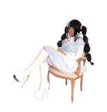 Dziecko - lali kobiety obsiadanie w karle Obrazy Stock