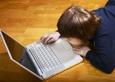 dziecko laptop obrazy stock
