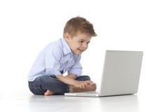 dziecko laptop Zdjęcia Royalty Free