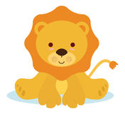 Dziecko lew Obrazy Royalty Free