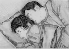 dziecko lubi spać Obrazy Royalty Free