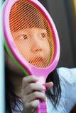 dziecko lubi tenisa Fotografia Stock