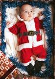 dziecko mały Santa Zdjęcie Stock
